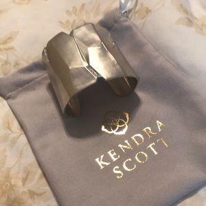 Sliver Kendra Scott cuff with diamond accents
